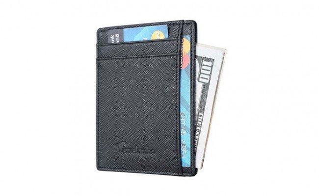 Esquire RFID Harry CC Wallet travers Portefeuille Black Noir Neuf