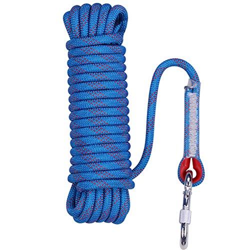 Size : 5m LSLS Descente De Corde /À Haute Altitude Corde descalade en Plein Air Corde Statique Corde De Diam/ètre 12mm Rouge Et Noir Corde descalade
